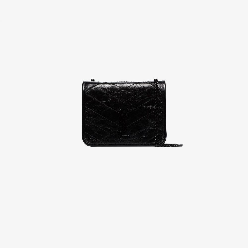 イヴ サンローラン Saint Laurent レディース ショルダーバッグ バッグ【black logo chain wallet cross body bag】black