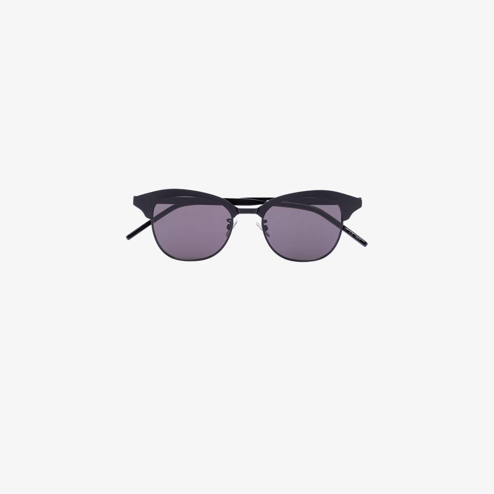 サンローラン Saint Laurent Eyewear レディース メガネ・サングラス ラウンド【black matte round sunglasses】black