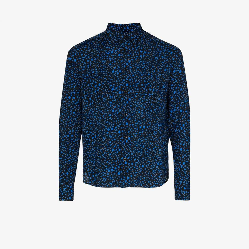 イヴ サンローラン Saint Laurent メンズ シャツ トップス【dot print slim fit shirt】black