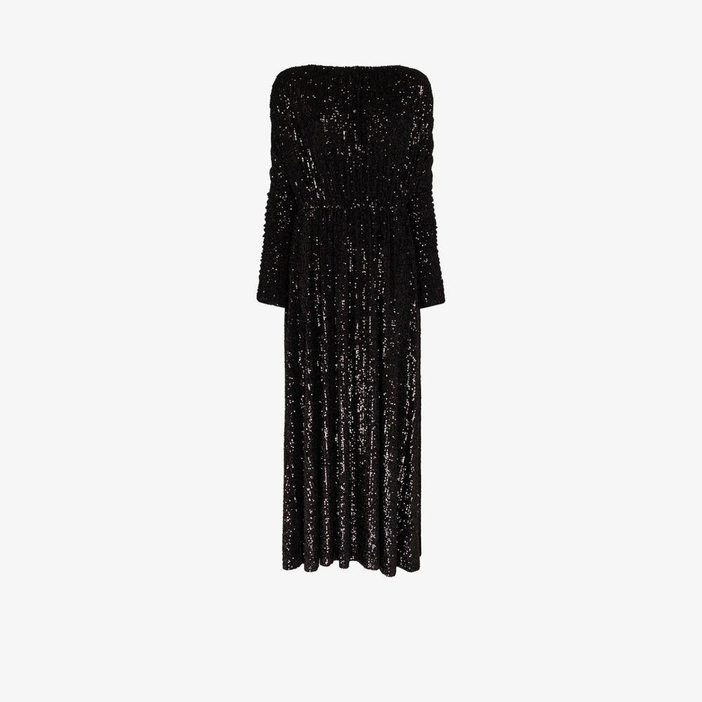 イヴ サンローラン Saint Laurent レディース パーティードレス マキシ丈 ワンピース・ドレス【sequin maxi dress】black