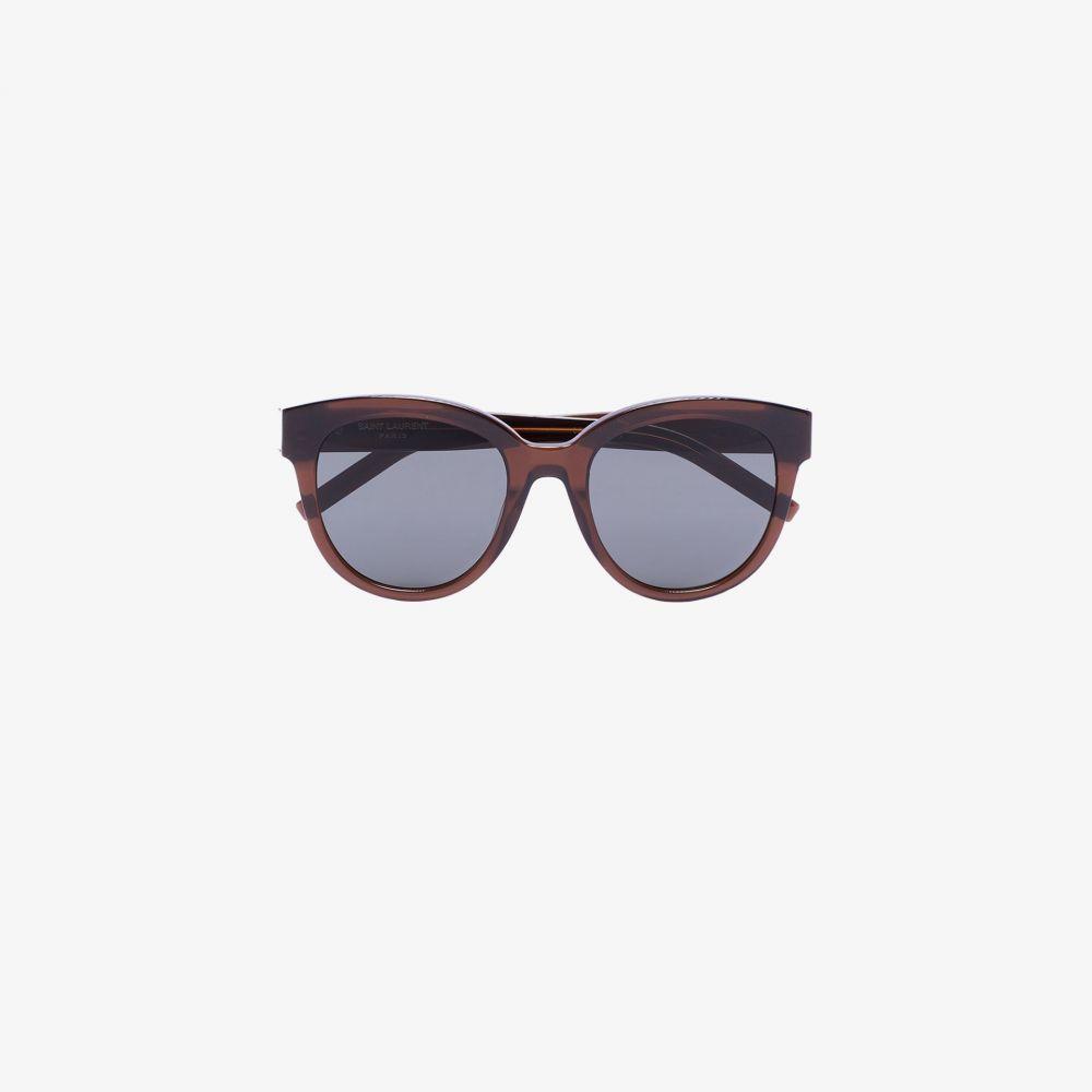 サンローラン Saint Laurent Eyewear レディース メガネ・サングラス ラウンド【brown round sunglasses】brown
