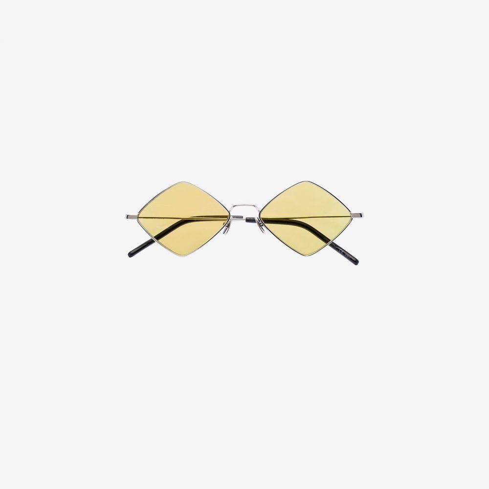 サンローラン Saint Laurent Eyewear レディース メガネ・サングラス スクエアフレーム【metallic diamond square tinted sunglasses】metallic