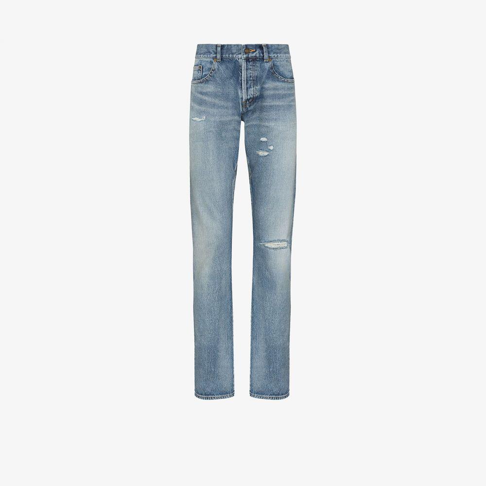 イヴ サンローラン Saint Laurent メンズ ジーンズ・デニム ボトムス・パンツ【Repair slim leg jeans】blue