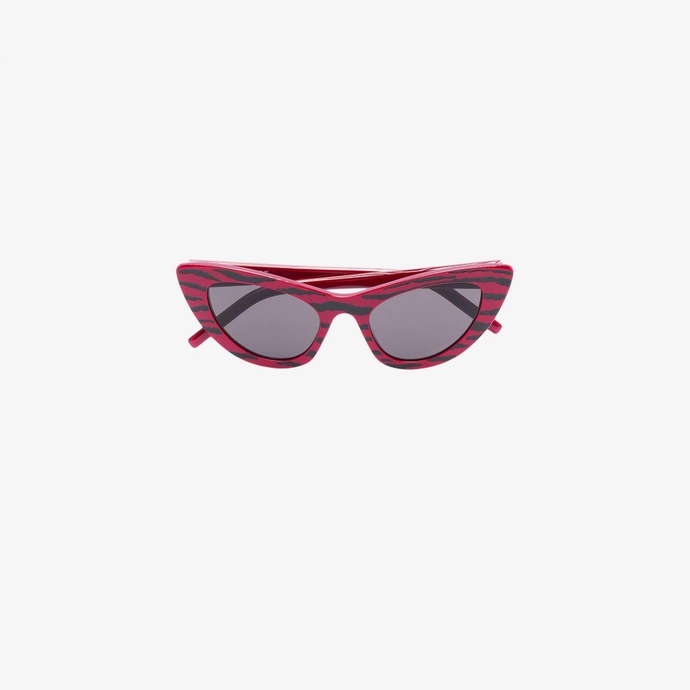 サンローラン Saint Laurent Eyewear レディース メガネ・サングラス 【red tiger stripe cat eye sunglasses】red