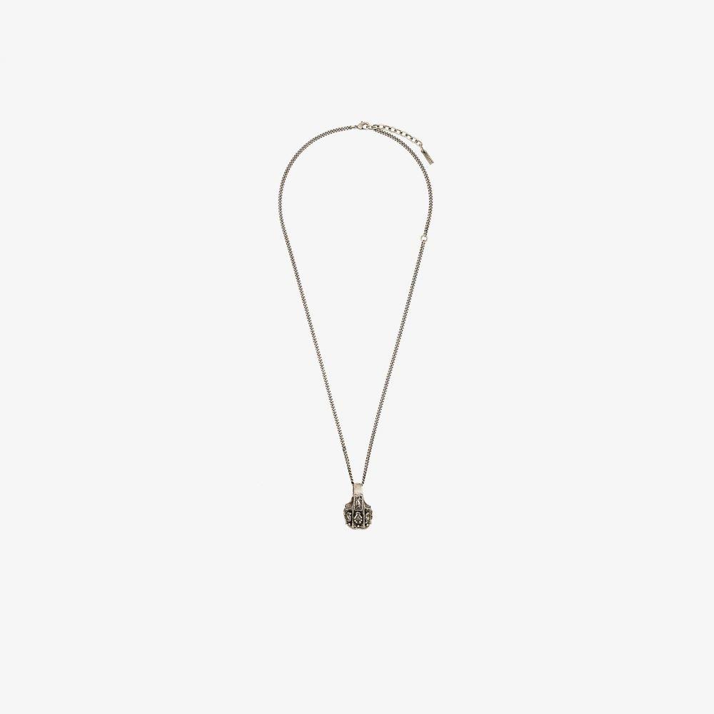 イヴ サンローラン Saint Laurent レディース ネックレス ジュエリー・アクセサリー【silver tone turquoise ring pendant necklace】silver
