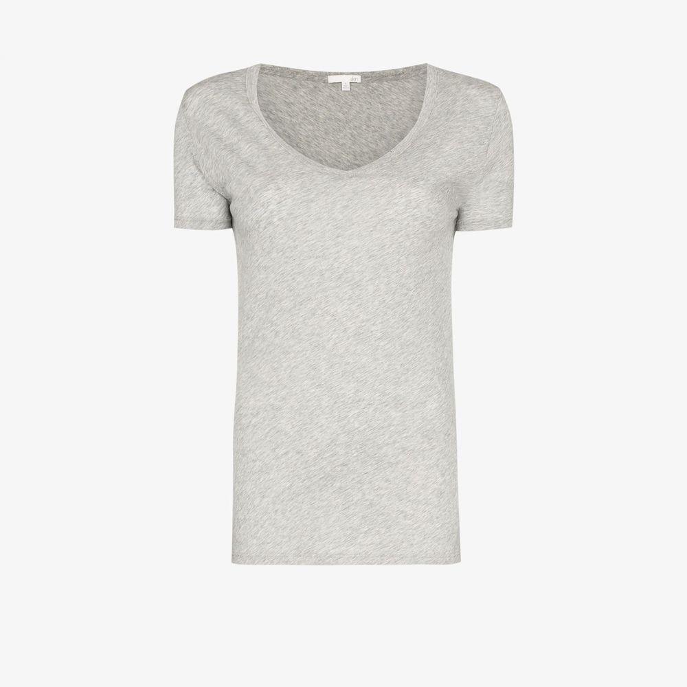 スキン Skin レディース Tシャツ Vネック トップス【easy v-neck t-shirt】grey