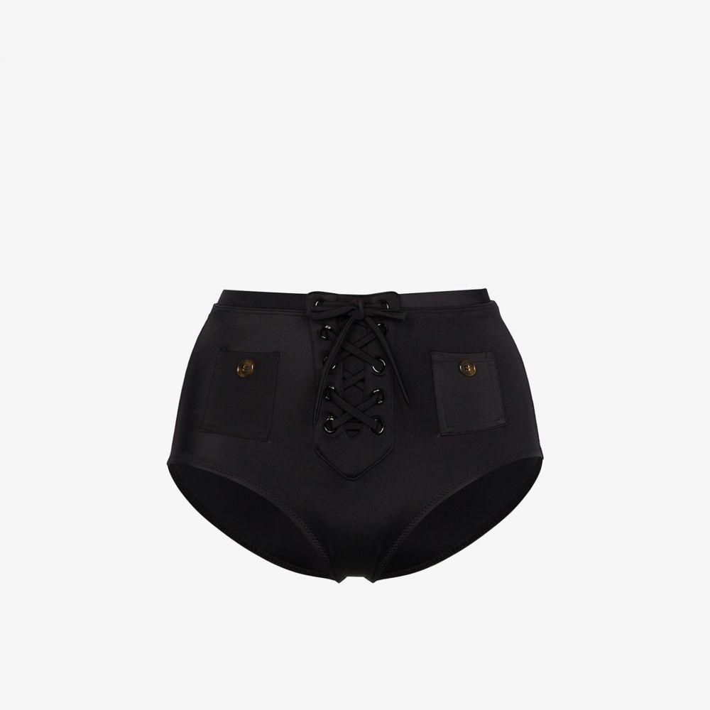 ソリッド&ストライプ Solid & Striped レディース ボトムのみ 水着・ビーチウェア【Penny high waist bikini bottoms】black