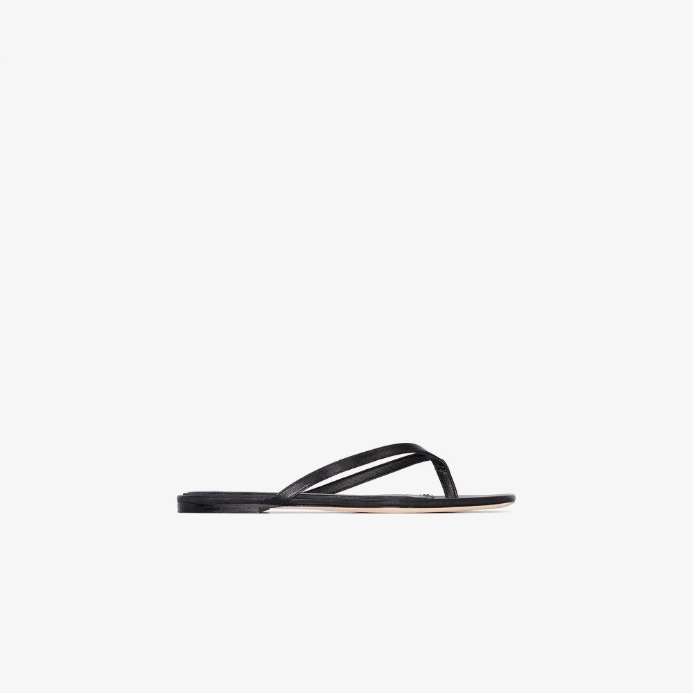 スタジオ アメリア Studio Amelia レディース サンダル・ミュール フラット シューズ・靴【black 2.2 flat leather sandals】black