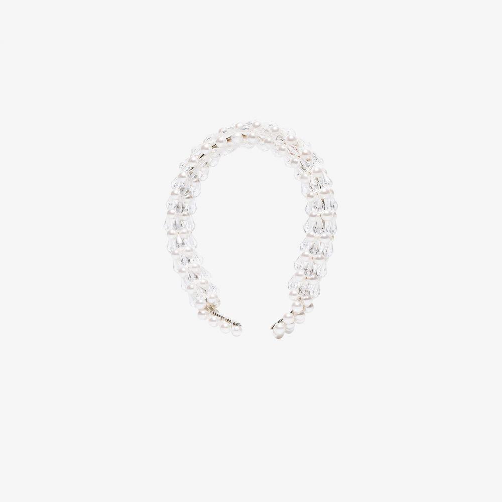 シュリンプス Shrimps レディース ヘアアクセサリー ヘッドバンド【white Shelly beaded pearl headband】white