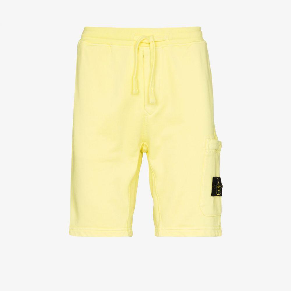 ストーンアイランド Stone Island メンズ ショートパンツ ジャージ ボトムス・パンツ【jersey cotton track shorts】yellow