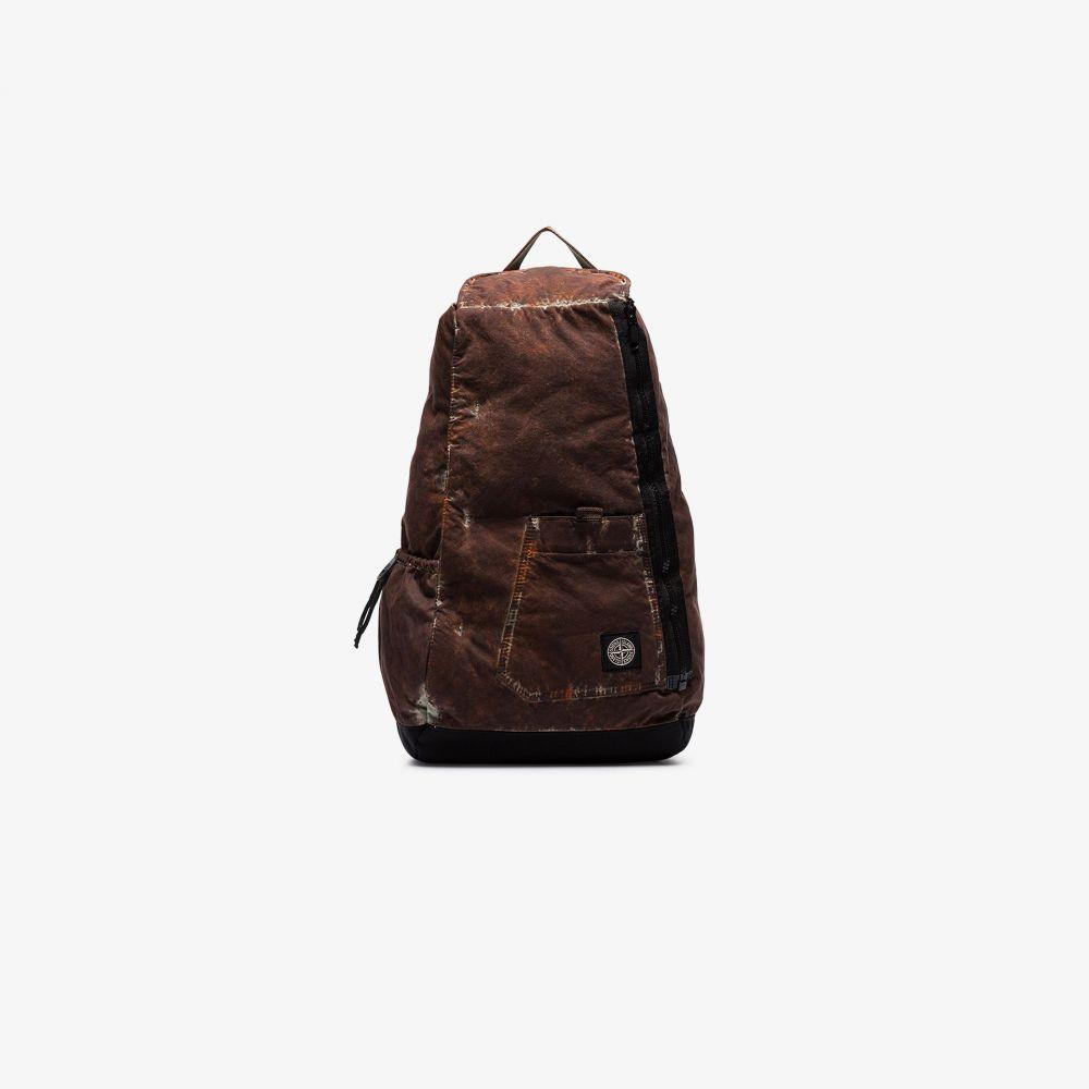 ストーンアイランド Stone Island メンズ バックパック・リュック バッグ【Brown paintball camo print backpack】brown