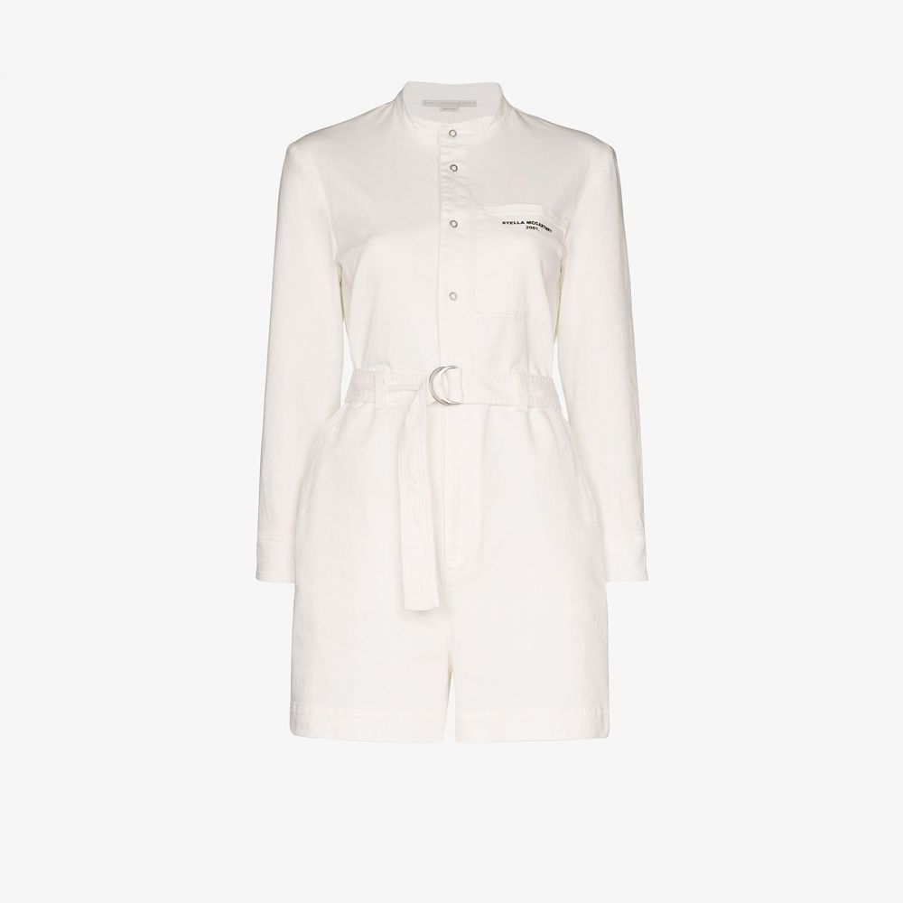 ステラ マッカートニー Stella McCartney レディース オールインワン プレイスーツ ワンピース・ドレス【denim belted playsuit】white