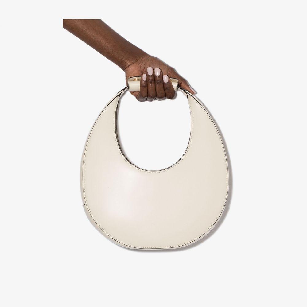 スタウド Staud レディース ショルダーバッグ バッグ【cream Moon calf leather shoulder bag】neutrals