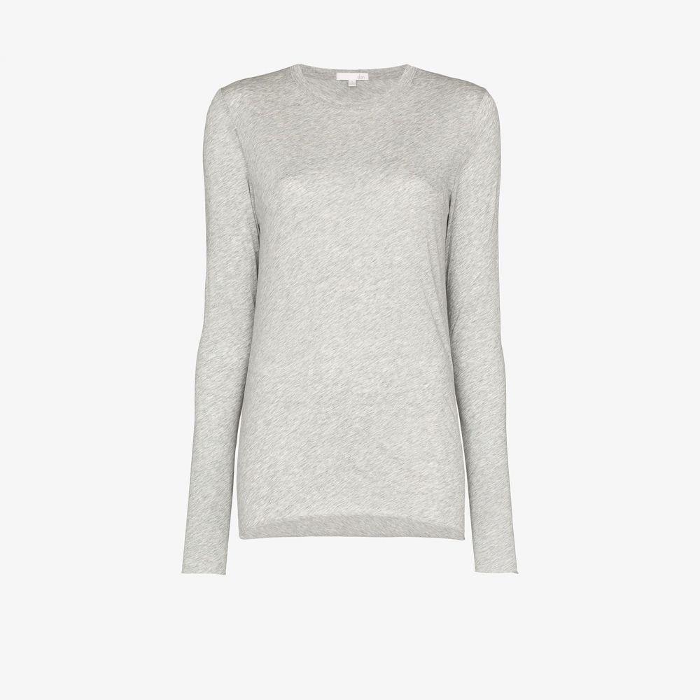 スキン Skin レディース 長袖Tシャツ トップス【long sleeve pima cotton T-shirt】grey