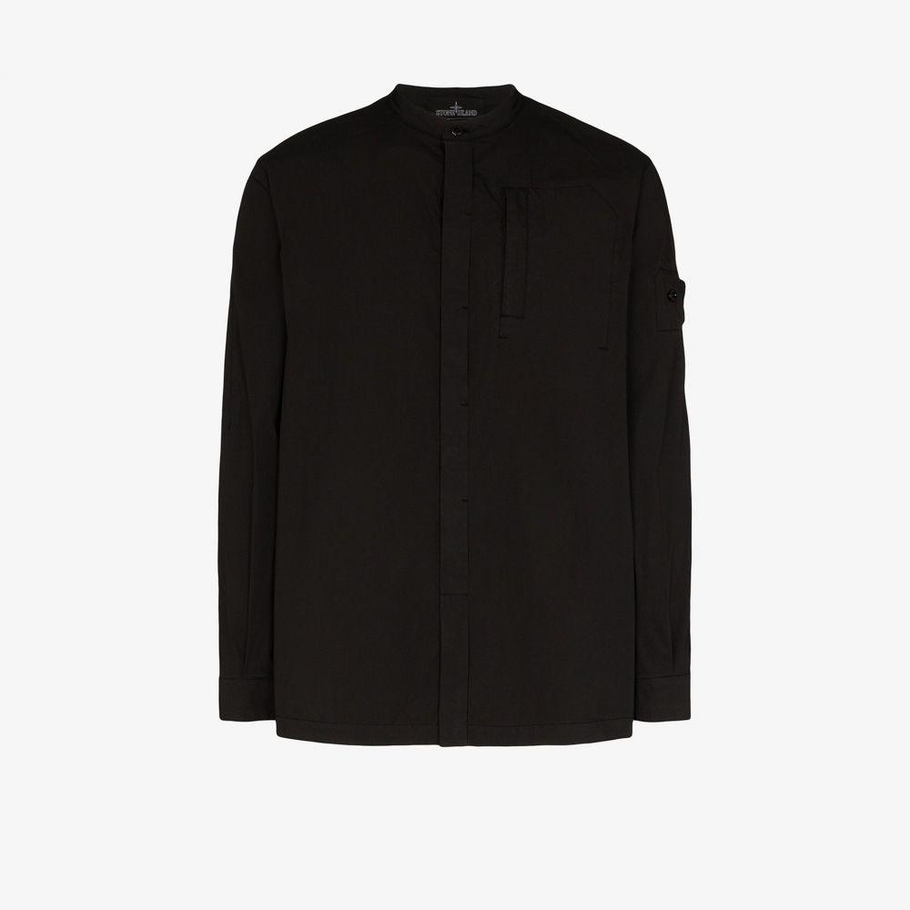 ストーンアイランド Stone Island Shadow Project メンズ シャツ トップス【garment-dyed tunic shirt】black