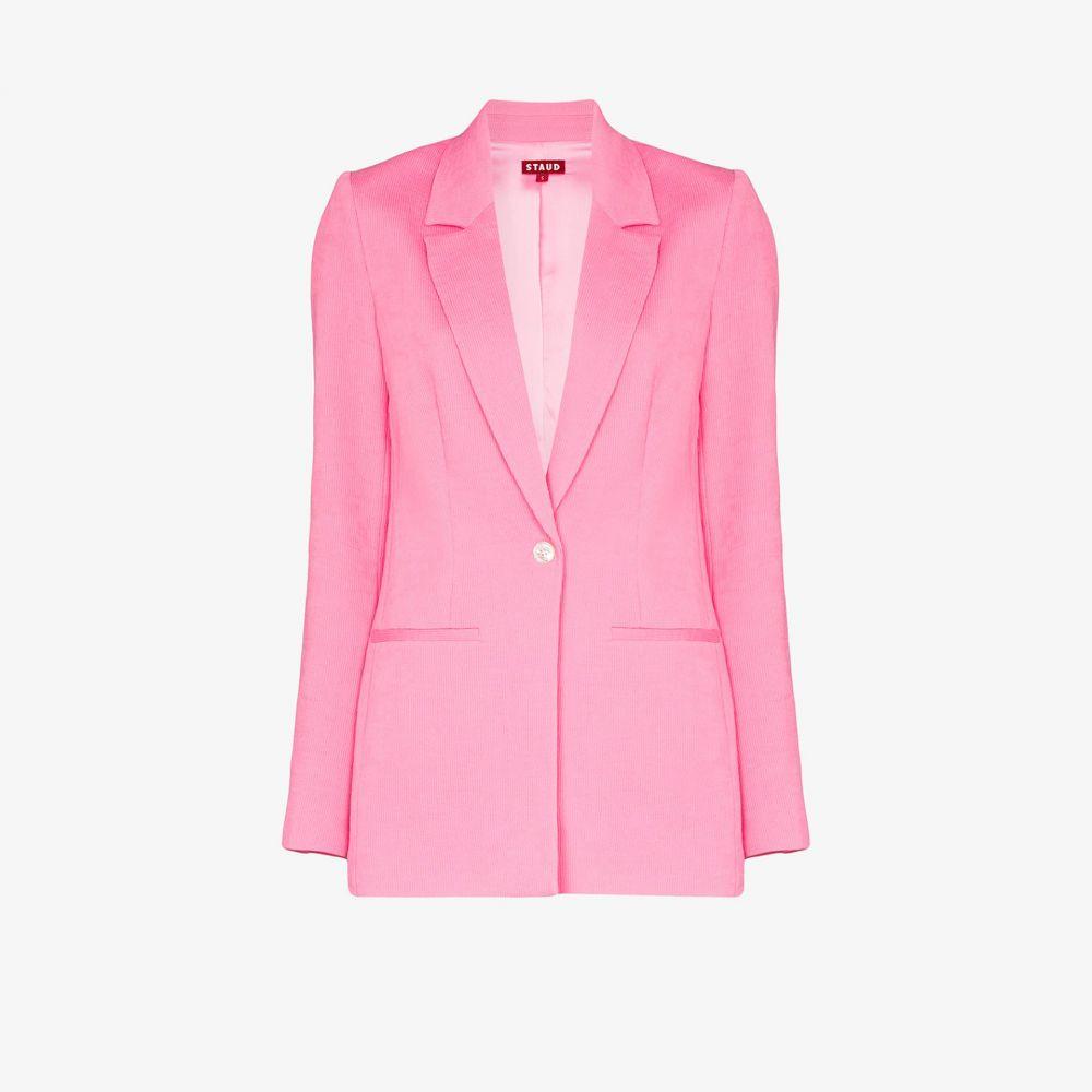 スタウド Staud レディース スーツ・ジャケット アウター【madden single-breasted blazer】pink