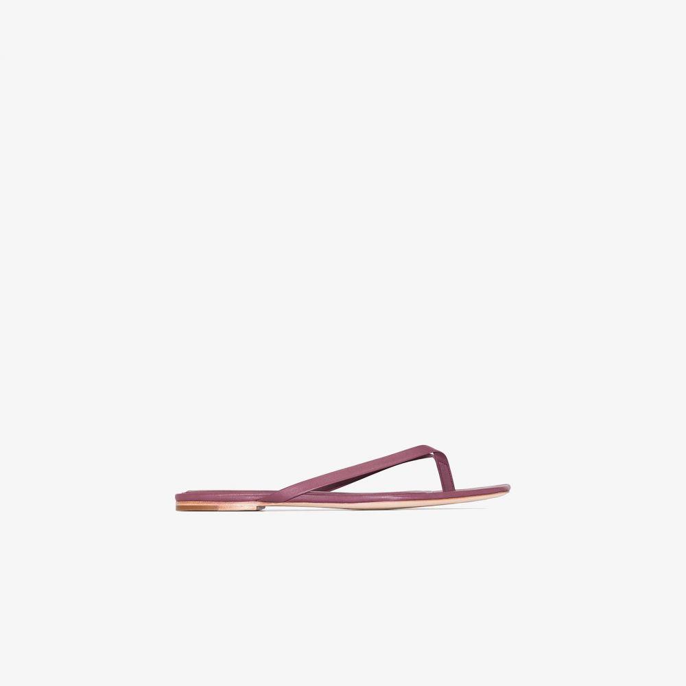 スタジオ アメリア Studio Amelia レディース サンダル・ミュール スクエアトゥ シューズ・靴【pink square toe leather sandals】purple