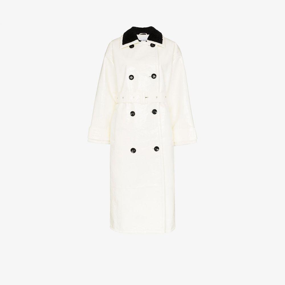 スタンドスタジオ STAND STUDIO レディース コート ダブルブレストコート アウター【Marissa faux fur double-breasted coat】white