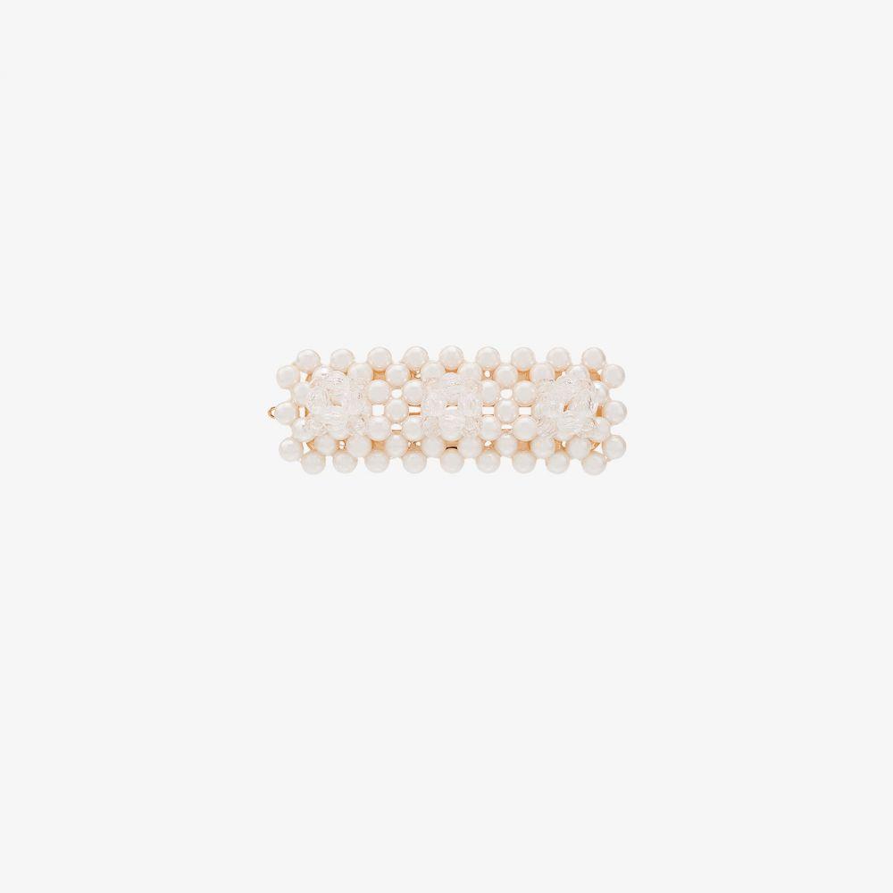 シュリンプス Shrimps レディース ヘアアクセサリー ヘアクリップ【white Antonia beaded hair clip】white