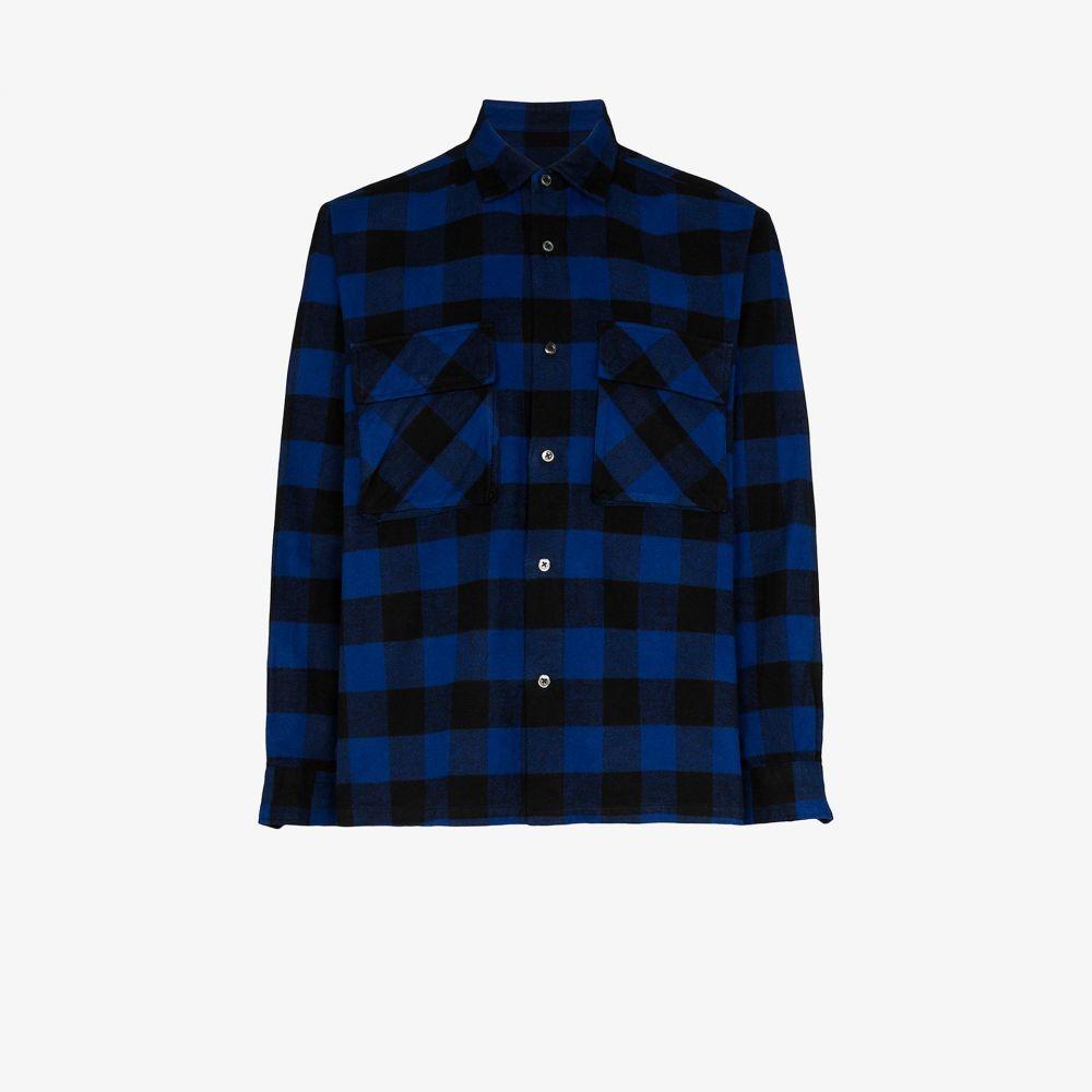 ソフネット SOPHNET. メンズ シャツ トップス【check utility pocket shirt】blue