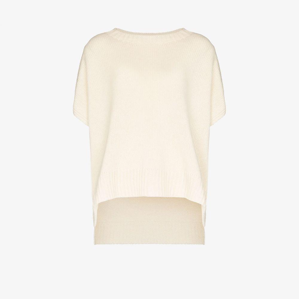 ステラ マッカートニー Stella McCartney レディース ポンチョ アウター【Alpaca knit poncho】white