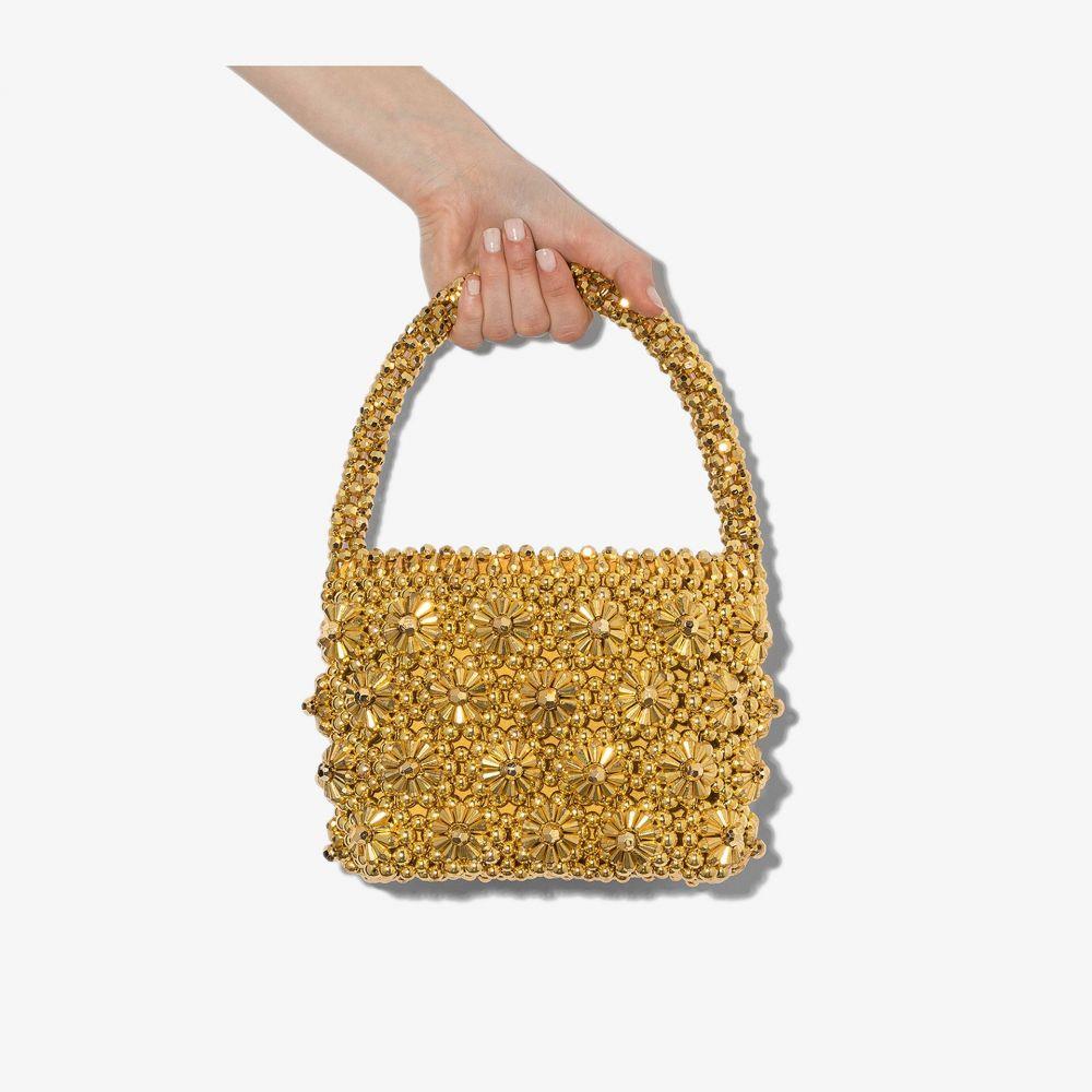 シュリンプス Shrimps レディース トートバッグ ビーズバッグ バッグ【gold tone shelly beaded tote bag】gold