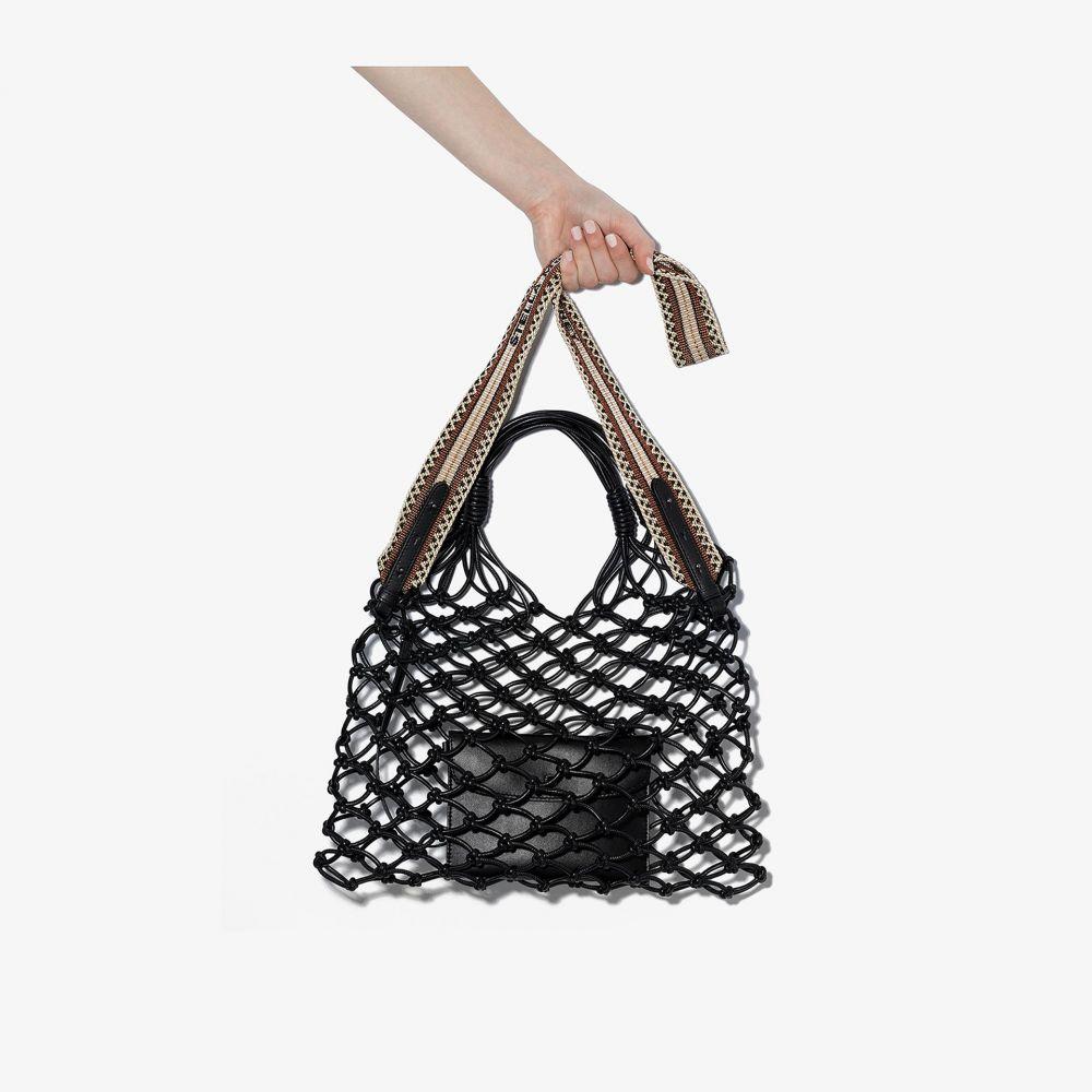 ステラ マッカートニー Stella McCartney レディース トートバッグ バッグ【black knotted faux leather tote bag】black