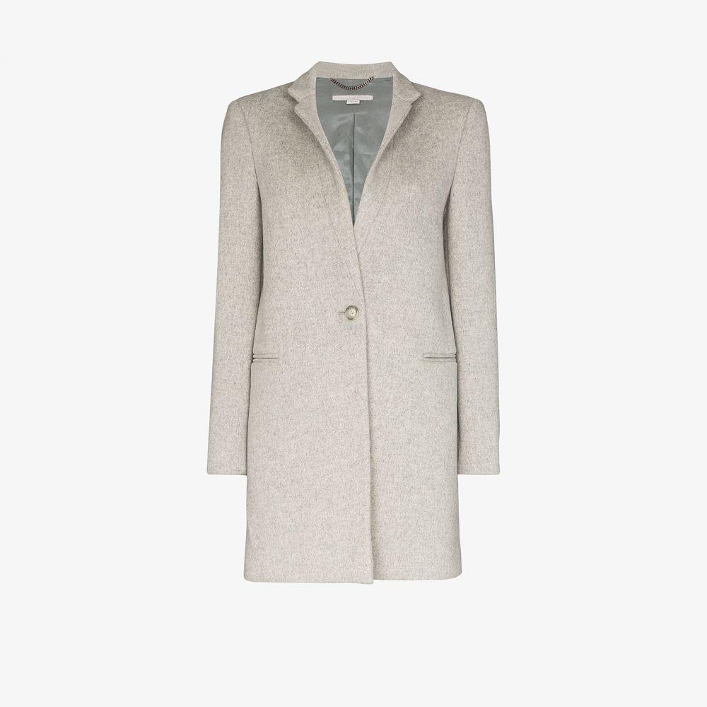 ステラ マッカートニー Stella McCartney レディース コート アウター【Single-breasted coat】grey