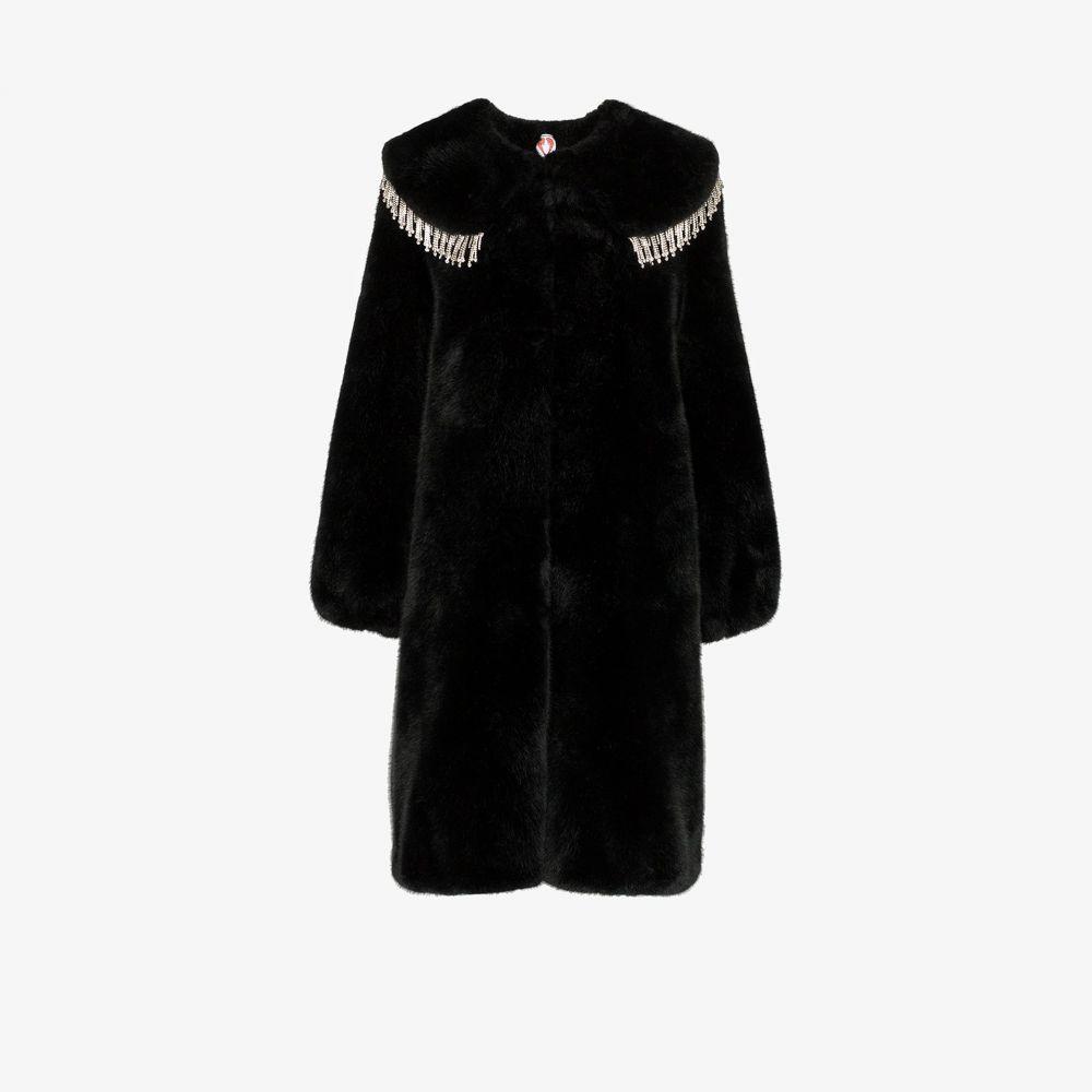 シュリンプス Shrimps レディース コート ファーコート アウター【Weston diamante faux fur coat】black