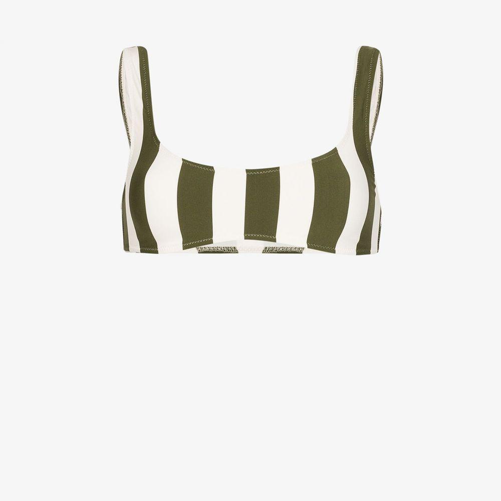 ソリッド&ストライプ Solid & Striped レディース トップのみ 水着・ビーチウェア【Elle striped bikini top】white