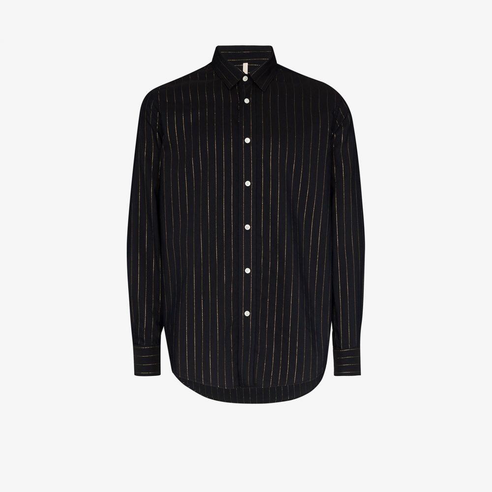 サンフラワー Sunflower メンズ シャツ トップス【Classic pinstriped shirt】black