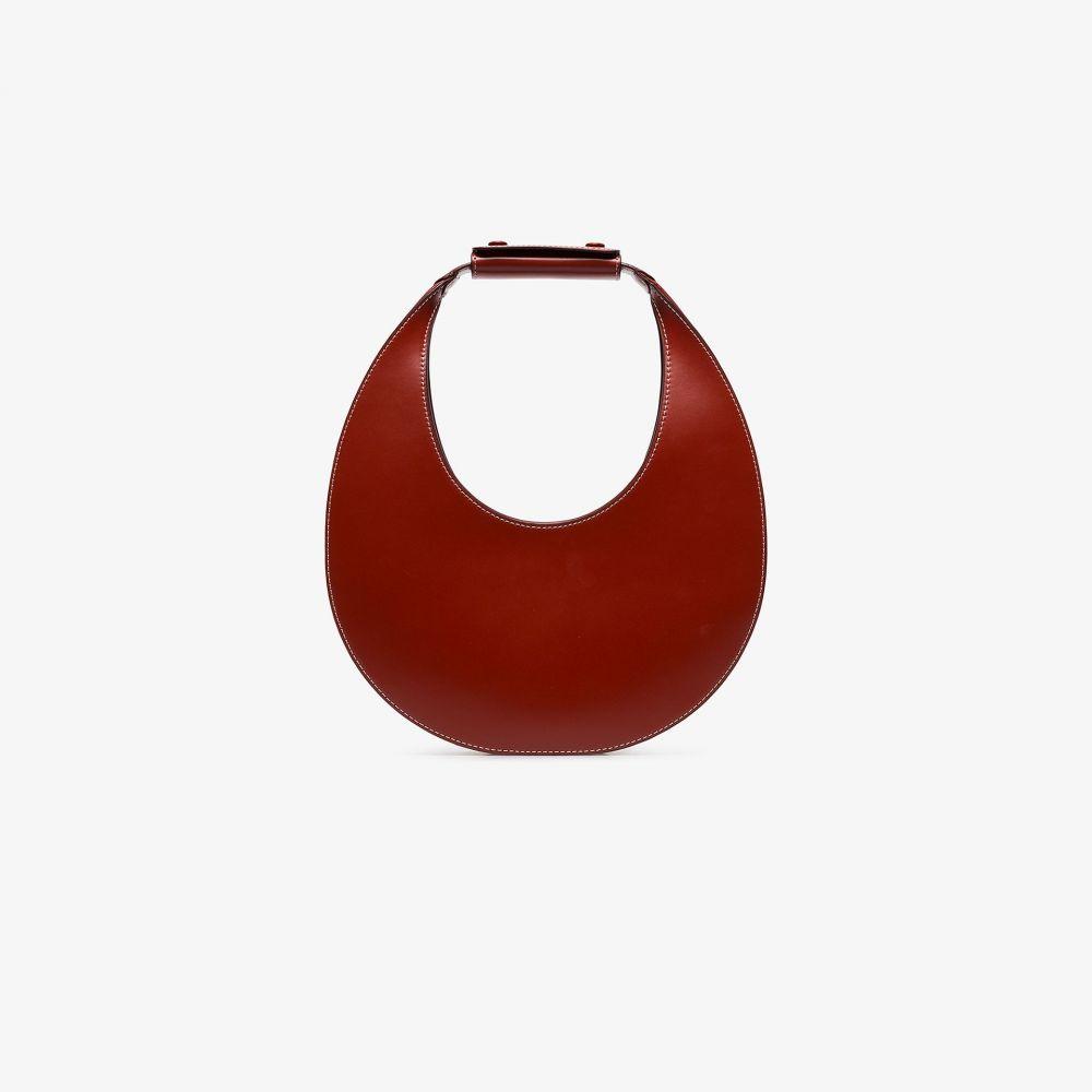 スタウド Staud レディース ショルダーバッグ バッグ【Red Moon leather shoulder bag】brown