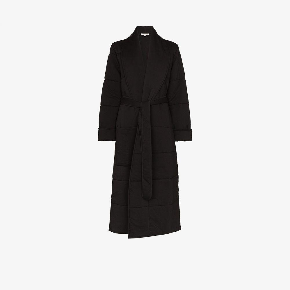 スキン Skin レディース ガウン・バスローブ インナー・下着【Sierra quilted cotton robe】black