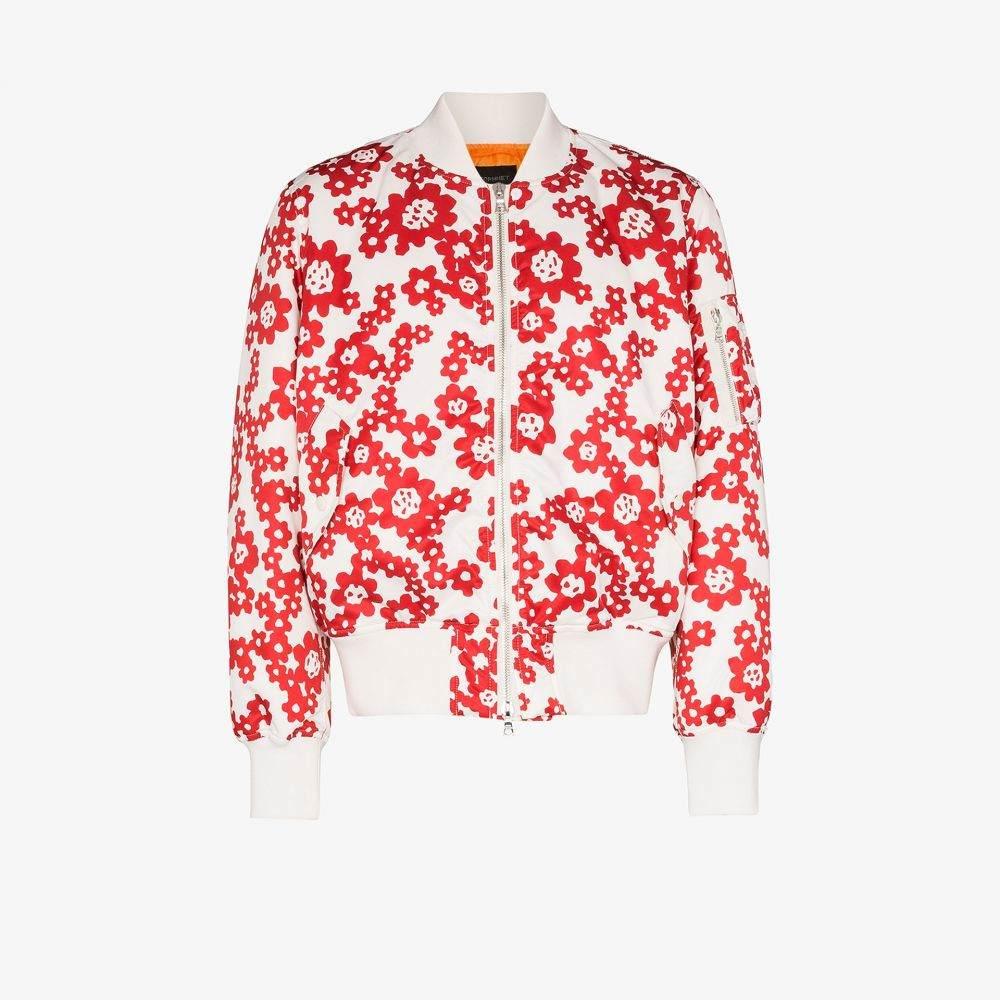 ソフネット SOPHNET. メンズ ブルゾン ミリタリージャケット アウター【Betty floral print bomber jacket】white