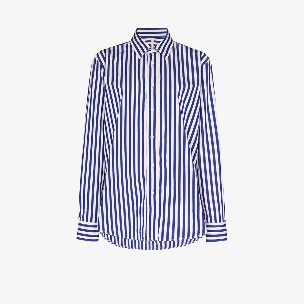 サンフラワー Sunflower レディース ブラウス・シャツ トップス【Classic striped shirt】blue