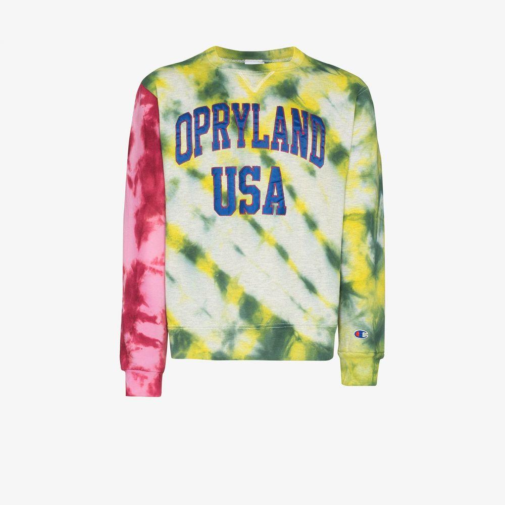ステイン シェイド Stain Shade メンズ スウェット・トレーナー トップス【Opryland crew neck sweatshirt】yellow