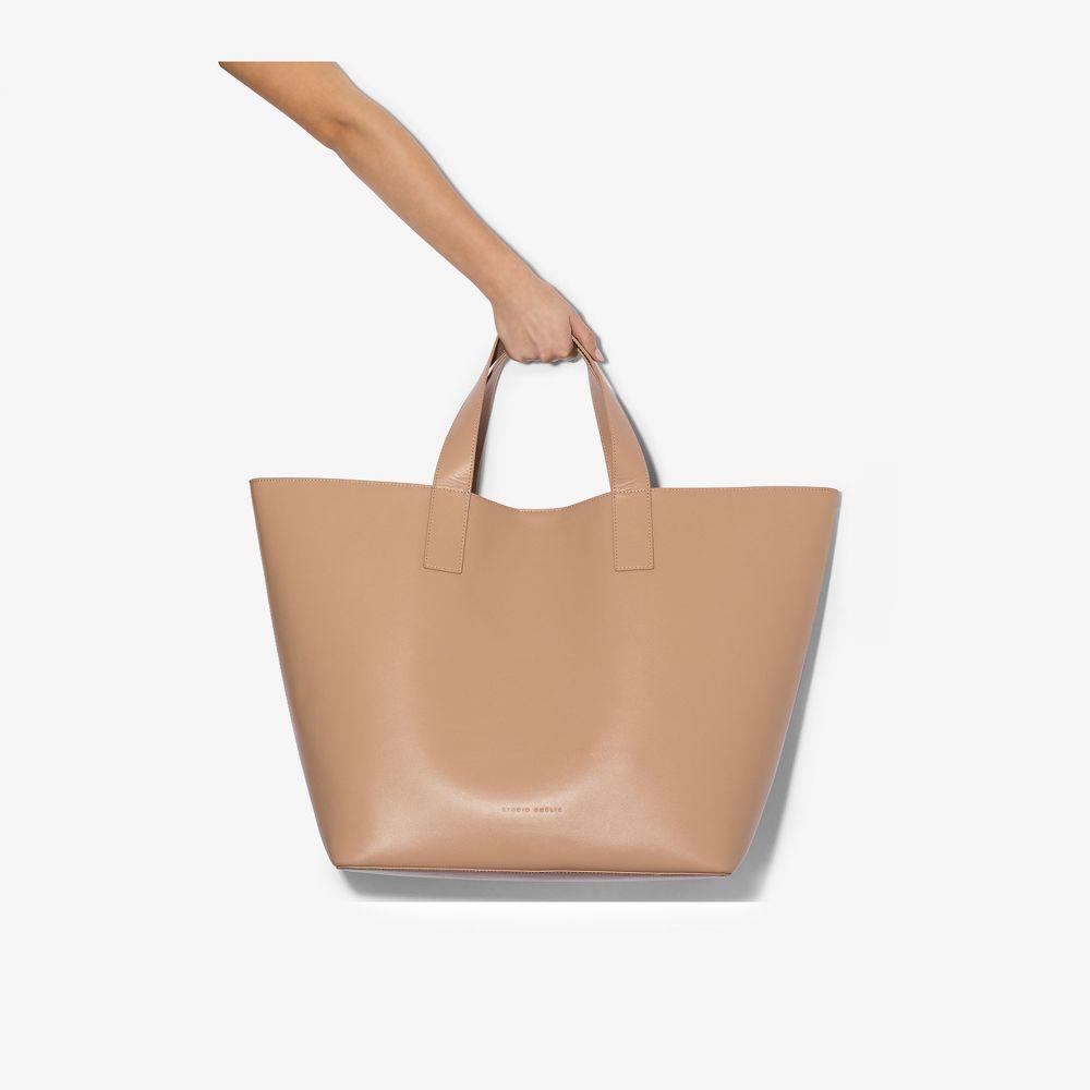 スタジオ アメリア Studio Amelia レディース トートバッグ バッグ【Nude large leather tote bag】neutrals
