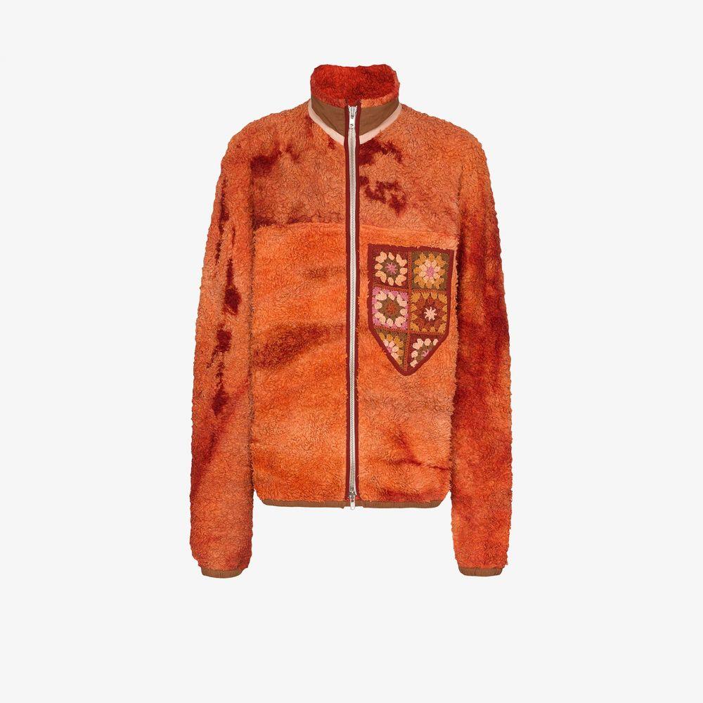 ストーリーエムエフジー STORY mfg. メンズ ブルゾン ミリタリージャケット アウター【Teddy embroidered bomber jacket】orange