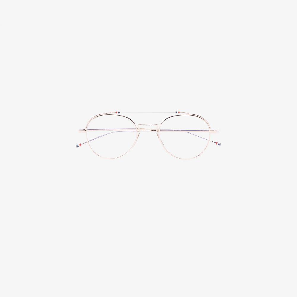 トムブラウン Thom Browne Eyewear メンズ メガネ・サングラス 【gold tone round glasses】