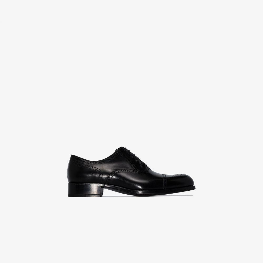 トム フォード Tom Ford メンズ 革靴・ビジネスシューズ メダリオン シューズ・靴【black Edgar leather brogues】black