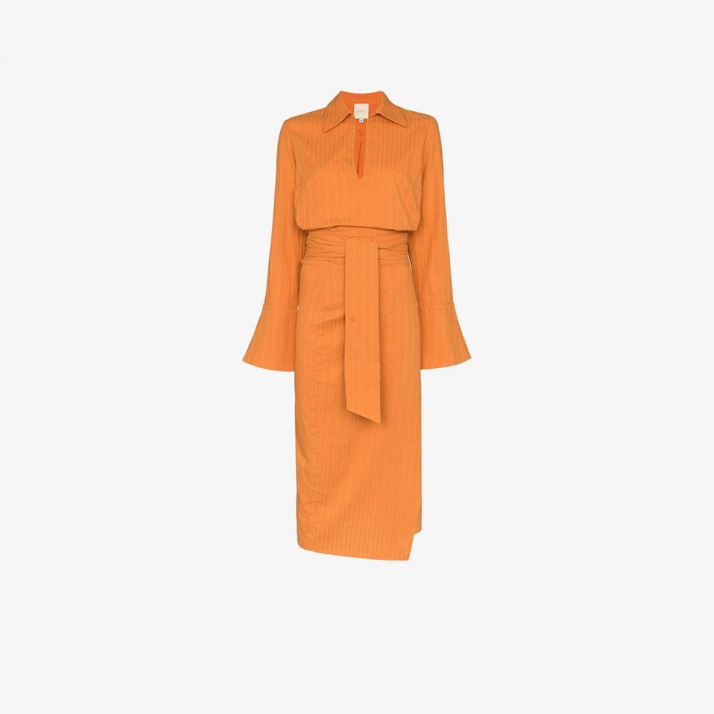 USISI レディース ワンピース ラップドレス ミドル丈 ワンピース・ドレス【margherita wrap midi dress】orange
