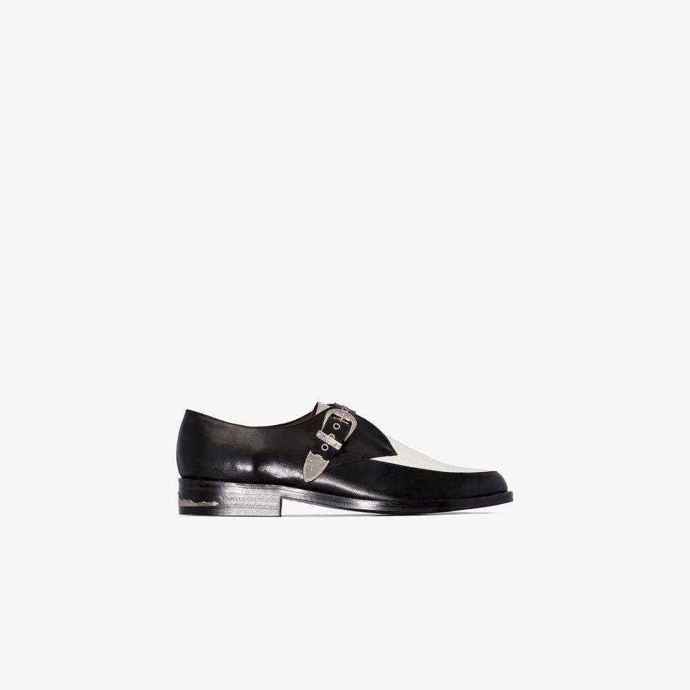トーガ Toga Virilis メンズ ローファー シューズ・靴【black strap leather loafers】black