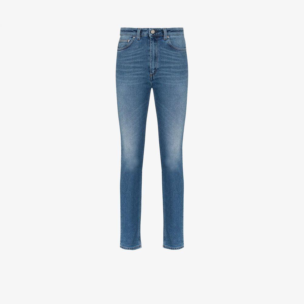 トーテム Toteme レディース ジーンズ・デニム ボトムス・パンツ【high-waisted straight leg jeans】blue