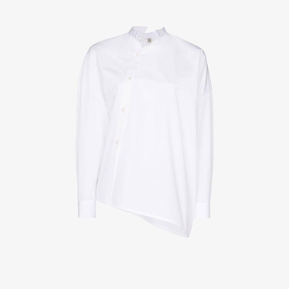 トーテム Toteme レディース ブラウス・シャツ トップス【Noma Asymmetric cotton shirt】white