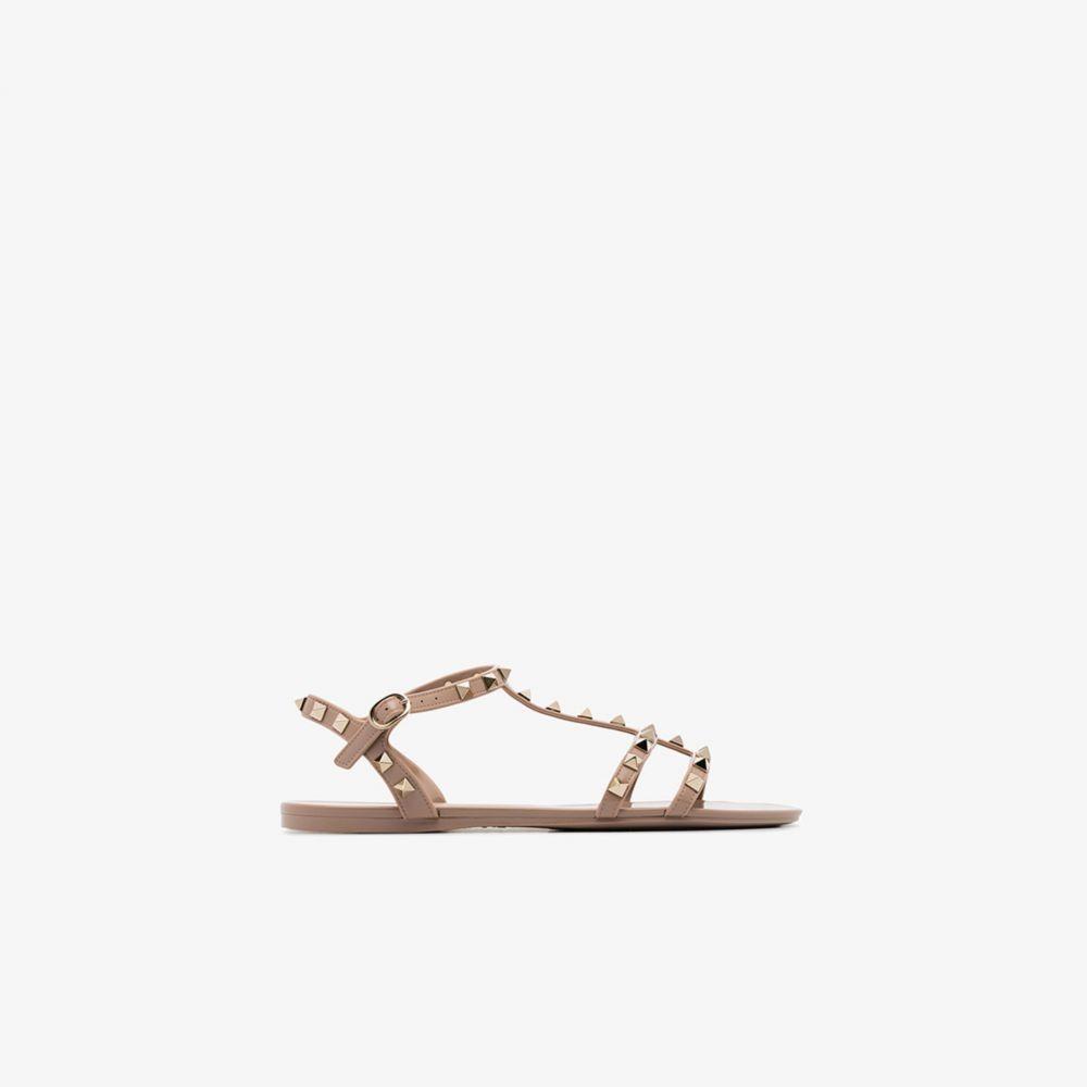 ヴァレンティノ Valentino レディース サンダル・ミュール シューズ・靴【Beige Garavani Rockstud Jelly Sandals】neutrals