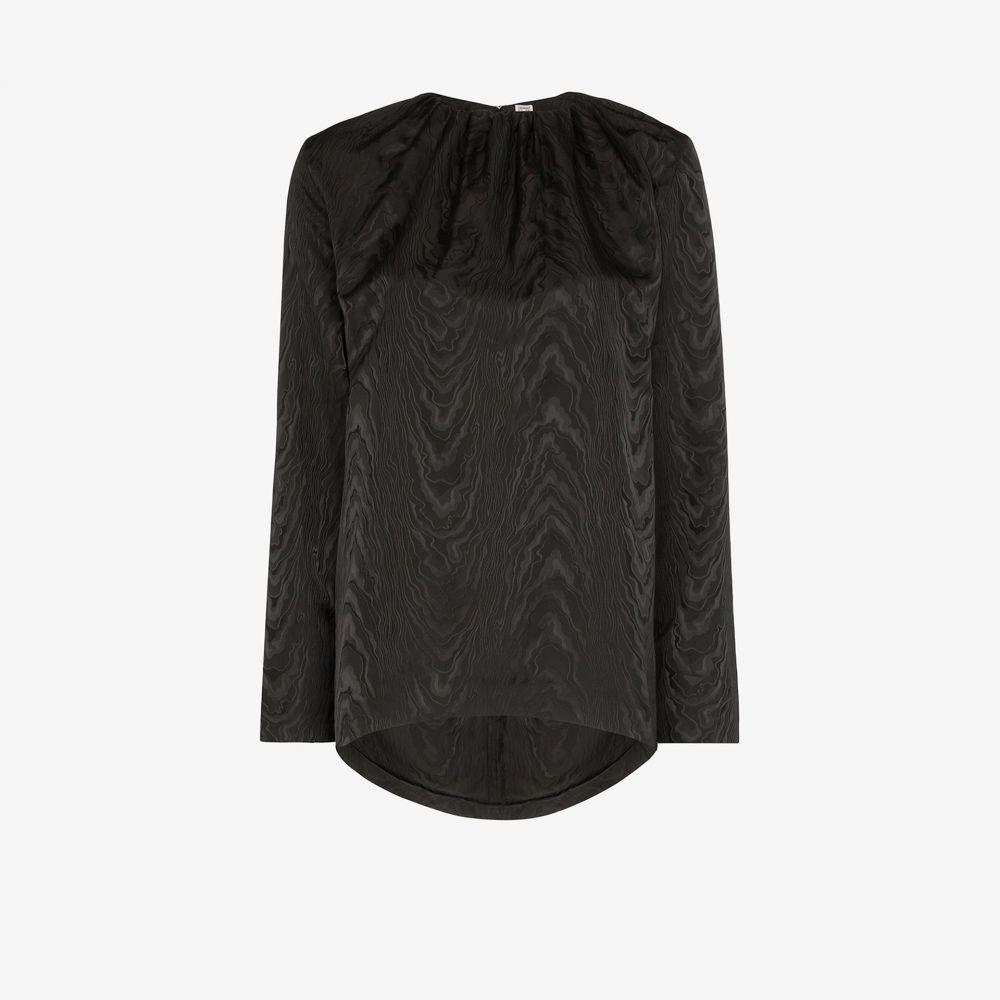 elasticated ブラウス・シャツ blouse】black collar Toteme レディース トップス【Vibrac トーテム