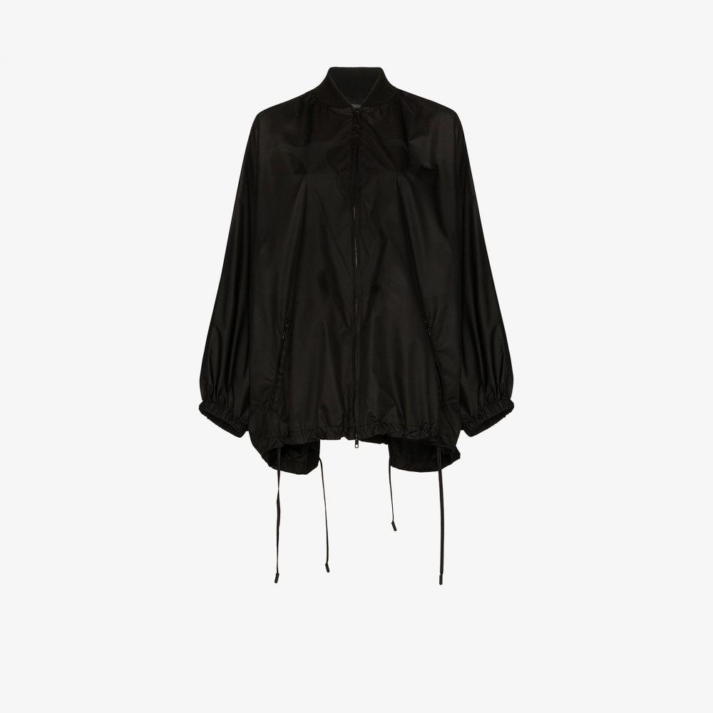 ヴァレンティノ Valentino レディース レインコート アウター【knit detail batwing raincoat】black