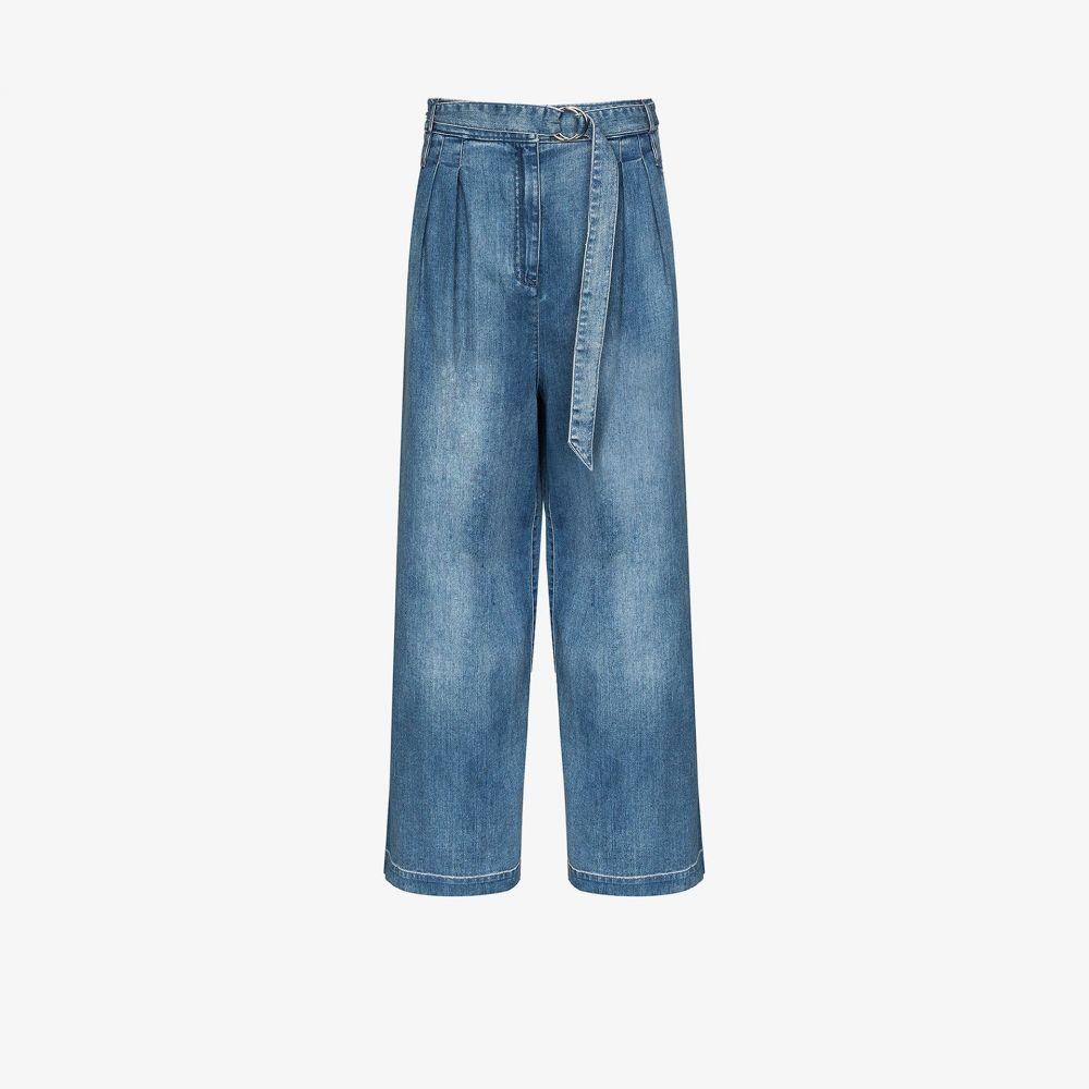 ティビ Tibi レディース ジーンズ・デニム ワイドパンツ ボトムス・パンツ【Stella wide leg jeans】blue