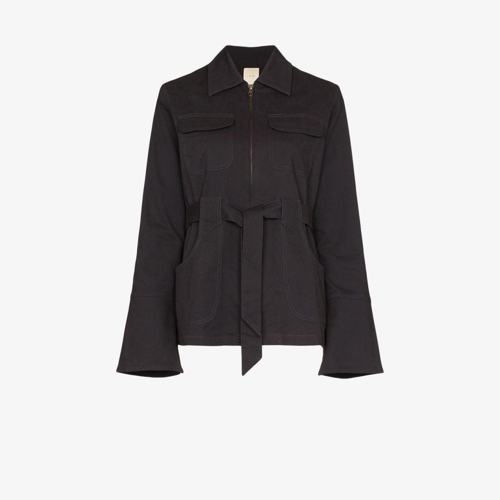 USISI レディース ジャケット アウター【Emilie zip-up collared jacket】black