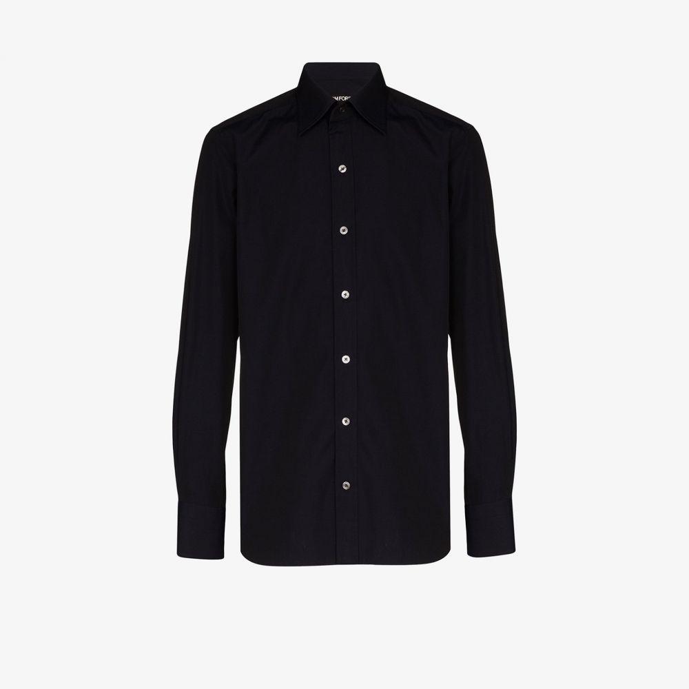トム フォード Tom Ford メンズ シャツ トップス【spread collar shirt】black